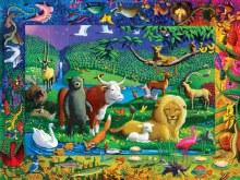 EeBoo Peaceable Kingdom 500 Piece Puzzle