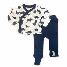 Finn + Emma Organic Kimono and Pants Set - Dinos