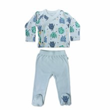 Finn + Emma Organic Cotton Kimono & Pants Set Monsters