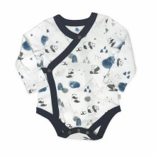 Finn + Emma Long Sleeved Bodysuit Panda 6-9m