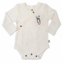 Finn + Emma LS Bodysuit White/Sloth 3-6