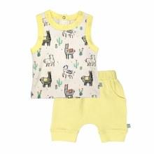 Finn + Emma Tank/Shorts Set Llamas 0-3