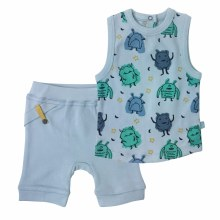 Finn + Emma Organic Cotton Tank Top & Shorts Set Monsters