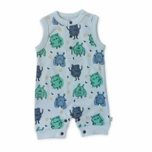 Finn + Emma Organic Cotton Tank Romper Monsters