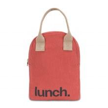 Fluf Zip Lunch Bag Brick Red