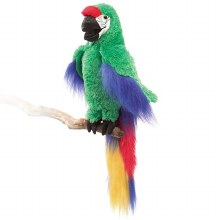 Folkmanis Green Macaw Puppet