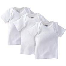 3-Pack White Slip-On Short Sleeve T-Shirt