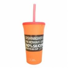 GoSili 16 Oz Straw Cup Orange