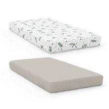 Organic Cotton & Bamboo Crib Sheets Botanical/Moss