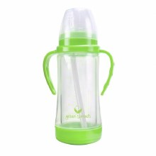 Glass Straw Cup- Green
