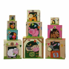 Haba Stacking Cubes - Farm