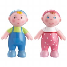 Haba Bendy Doll Babies Marie and Max