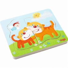 Haba Wooden Puzzle Cuddly Kitties