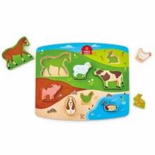 Hape Farmyard Puzzle and Play