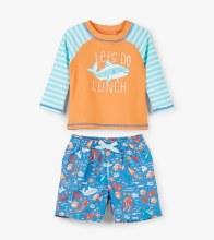 Hatley Baby Rashguard Set in Ocean Animals