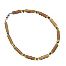 Hazelwood Adult Necklace Yellow and Blue Beads