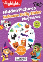 Hidden Pictures Halloween Puffy Sticker Playscenes