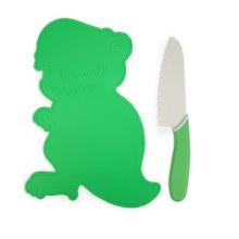 Handstand Kitchen Dinosaur Cutting Board & Knife Set