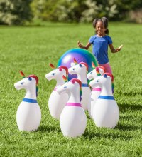 Giant Unicorn Inflatable Bowling