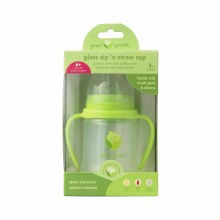 Green Sprouts Glass Siplay 'N Straw Cup Green