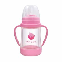 Green Sprouts Glass Siplay 'N Straw Cup Pink