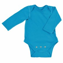 iplay Long Sleeve Organic Onesie Aqua 3 M