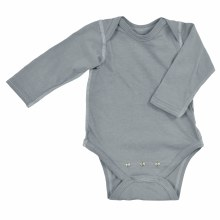 iplay Long Sleeve Organic Onesie Gray 6 M