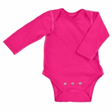 iplay Long Sleeve Organic Onesie Hot Pink