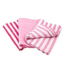Green Sprouts Organic Muslin Multi-Purpose Cloths Pink