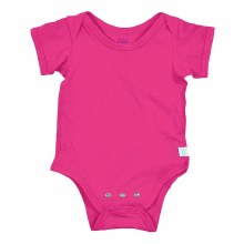 iplay Short Sleeve Organic Onesie Hot Pink 12 Month