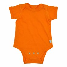iplay Short Sleeve Organic Onesie Orange 3 Months