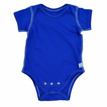 iplay Short Sleeve Organic Onesie Royal Blue 3