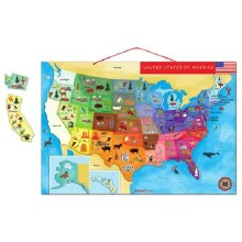 Janod Magnetic USA Map Puzzle