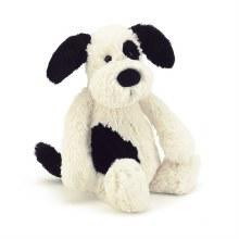 Jellycat Bashful  Black and Cream Puppy- Small
