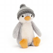 Bashful Gray Bobble Hat Penguin