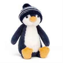 Bashful Navy Bobble Hat Penguin