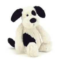 Jellycat Bashful  Black and Cream Puppy- Medium