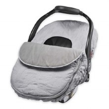 JJ Cole Car Seat Cover in Grey Herringbone
