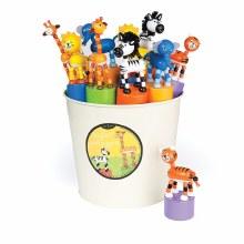 Jack Rabbit Creations Safari Push Puppets