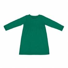Kidential Organic Cotton Long Sleeve Knit Dress Green