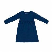 Kidential Organic Cotton Long Sleeve Knit Dress Navy