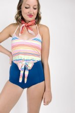 KJ Tied-Up Rainbow Stripe XXL