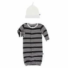 Agriculture Gown Converter & Hat Set Zebra Agriculture Stripes 0-3