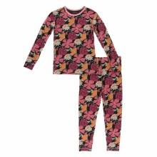 Agriculture Long Sleeve Pajama Set Zebra Market Flowers 18-24