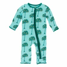 Agriculture Muffin Ruffle Coverall Iceberg Orange Trees 9-12