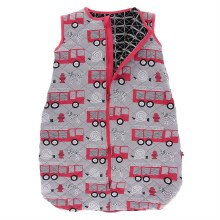 Kickee Pants Everyday Heroes Print Quilted Sleeping Bag Feather Firefighter / Midnight Infrastructure