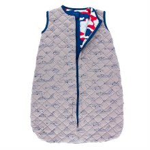 Kickee Pants Everyday Heroes Print Quilted Sleeping Bag Feather Heroes in the Air / Flag Red Military