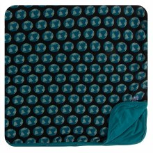 Kickee Pants Everyday Heroes Print Toddler Blanket Midnight Environmental Protection