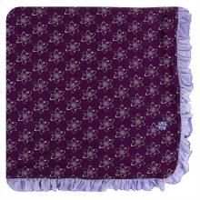 Kickee Pants Print Ruffle Toddler Blanket in Wine Grapes Atoms