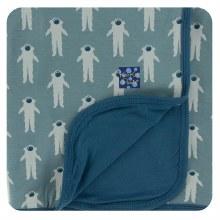 Kickee Pants Print Toddler Blanket in Dusty Sky Astronaut